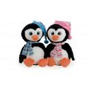 pinguino alaska 45 cms amarillo y rosa ojos de cri