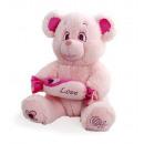 grossiste Poupees et peluches:bonbon rose ours 45 cm