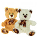 bears with glass eyes scarf 2 colors. 85 cms