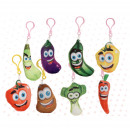 keychain funny fruits 6-9 cms assorted