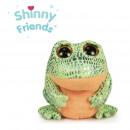 verde grenouille ojos birllantes motas 15 cms