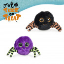 halloween spider sparkling eyes 2 models 15 cms
