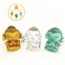 baby budha 3 colores verde, oro y blanco 25 cms