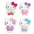 Großhandel Nachtwäsche: Hello Kitty Pyjama Party T500 4 Modelle 40 cm