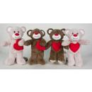 Valentijn beren 4 assorti 25 cm