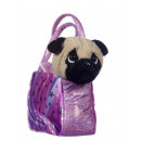 pug in bag 2 colors 20 cms
