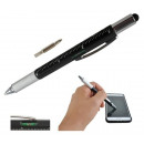 6 in 1 Ballpoint Pen Touch Screen Stylus Flat-hea