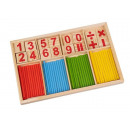 Math ruler Montessori toy Wooden counting stick ki