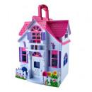 Dollhouse Folding 6 Room Furniture Figurines Famil