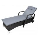 grossiste Meubles de jardin: Chaise longue de jardin / rotin sur roues