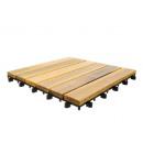 groothandel Overigen: Terrastegels set van 10 kliktegels 30x30cm hout