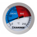 THERMOMETER FOR GRILL AND SMOKEHOUSE • stainless s