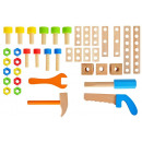 Wooden Workshop for Children. Tools + Case 9421