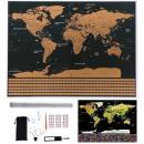 World Map Scratch Card for Traveler Flags Accessor