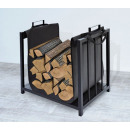 Wooden basket with textile cover Wood stove Elegan