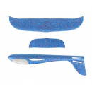 Blue LED styrofoam plane