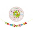 Wooden Shape Sorting Learning Clock Puzzle Learnin