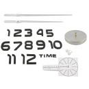 nagyker Órák és ébresztőórák: DIY WALL CLOCK • 60 - 130 cm • tükörhatással