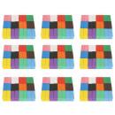 nagyker Ajándékok és papíráruk: Dominó fa blokkok puzzle színes 1131