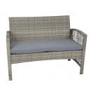 Polyrattan garden furniture seating group sofa set