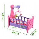 wholesale Dolls &Plush: Big doll bed with crib mobile and linen 3in1 #1400
