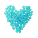 wholesale Other: Stones Pebbles Fluorescent X 100pcs Blue # 8768