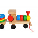 Large Wooden Educational Train Sorter Bricks XL 82