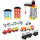 Vía de tren de madera Set de juguetes de madera 88