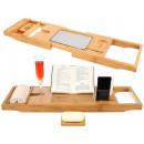 Bamboo Bath Shelf Adjustable Overlay Eco 9710