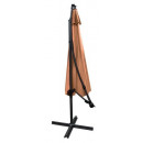 grossiste Decoration et jardin et eclairage: Parasol de jardin avec bras rallonge 3m - marron