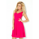 Neckline dress with heart - color raspberry