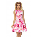 wholesale Fashion & Mode: 125-16 Dress KOŁO  - V-neckline - PINK ROSES