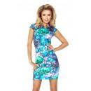 hurtownia Fashion & Moda: 132-7 Sukienka z dziubkiem - KWIATY art. ZIELONE
