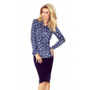 wholesale Shirts & Blouses: 140-7 Blouse with tie in front - dark JEANS