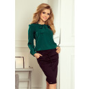 Großhandel Hemden & Blusen: 140-9 Bluse mit  Bindung an der Vorderseite - GRÜNE