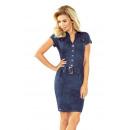Großhandel Jeanswear: 142-5 szmizjerka  Kleid mit Knöpfen - Jeans
