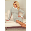 groothandel Kleding & Fashion: 143-3 jurk met witte kraag en manchetten
