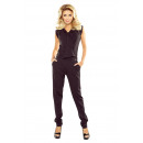 wholesale Trousers: 151-1 Covered suit  with a neckline - BLACK