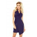 wholesale Fashion & Apparel: 153-3 Wide collar dress - GRANATOWA
