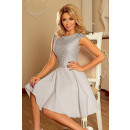157-6 MARTA dress with lace - LIGHT GRAY