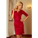 Großhandel Kleider: 161-9 AGATA - Kleid mit einem Kragen - BORDOWA