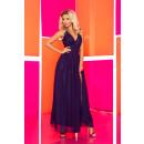 166-1 Maxi Chiffon-Kleid mit einem Schlitz