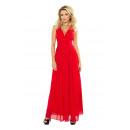 166-2 Maxi Chiffon-Kleid mit einem Schlitz