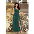 166-5 MAXI Chiffon langes Kleid mit Schlitz