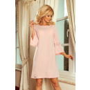 190-1 MARGARET dress with lace on the sleeves