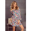 Großhandel Kleider: 198-2 JULIE Kleid  mit Rüschen an den Ärmeln