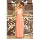 211-4 LEA long sleeveless dress