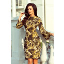 221 Sweater dress with a flared sleeve