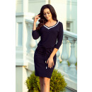 224-1 Sporty dress with welt - NAVY