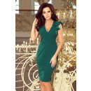 227-1 MEGAN Dress with neckline and ruffles